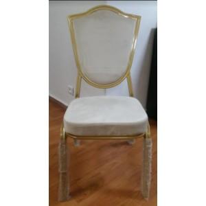 chaise ovale doré
